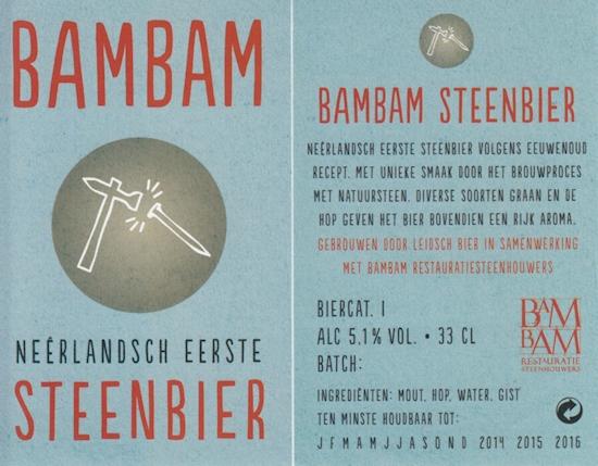 BamBam Steenbier, etiket 2014