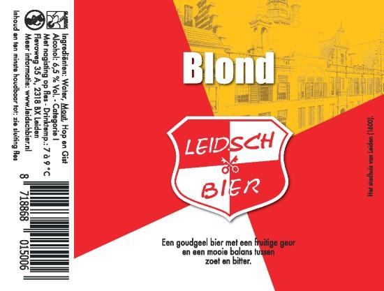 Leidsch Blond, etiket 2016