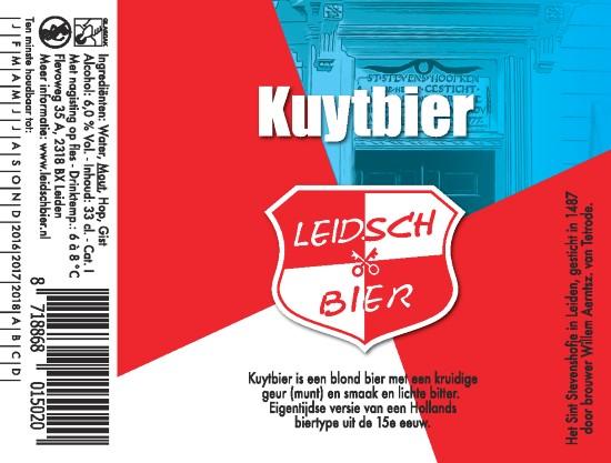 Leidsch Kuytbier, etiket 2016