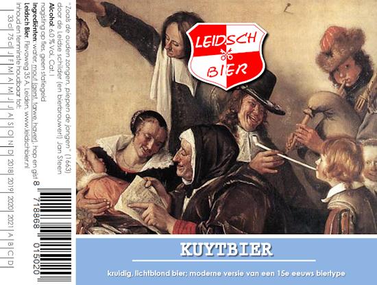 Leidsch Kuytbier, etiket 2017