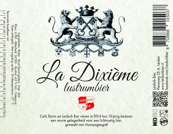 Leidsch La Dixième, etiket 2014