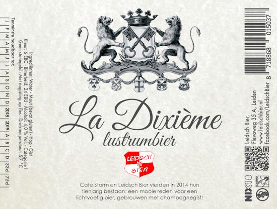 Leidsch La Dixième, etiket 2017