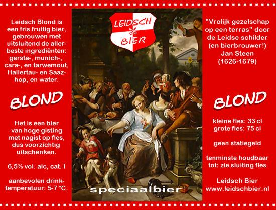 Leidsch Blond, etiket 2008