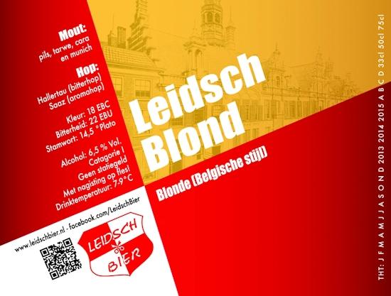 Leidsch Blond, etiket 2013