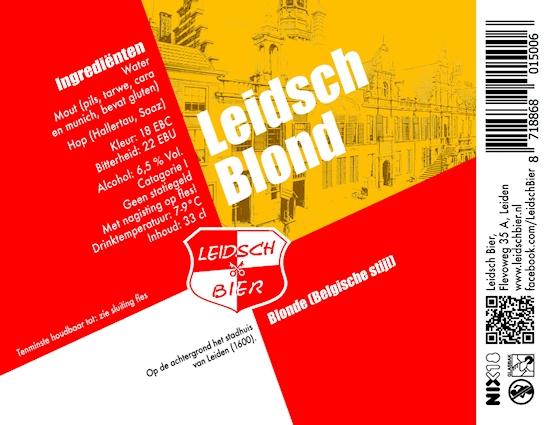 Leidsch Blond, etiket 2014