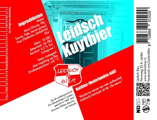 Leidsch Kuytbier, etiket 2014