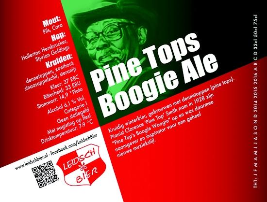 Leidsch Pine Tops Boogie Ale, etiket 2013