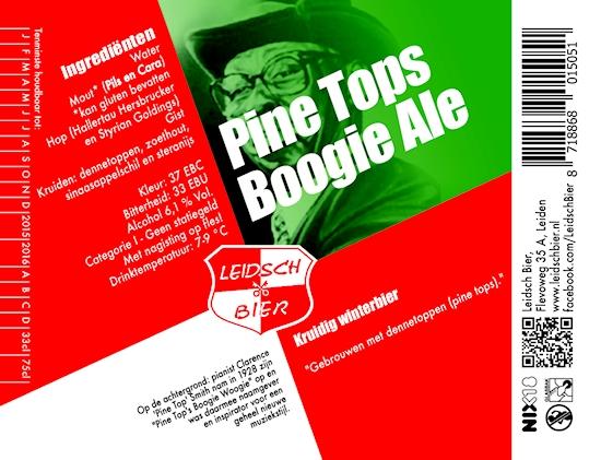 Leidsch Pine Tops Boogie Ale, etiket 2014