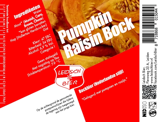 Pumpkin Raisin Bock, etiket 2014