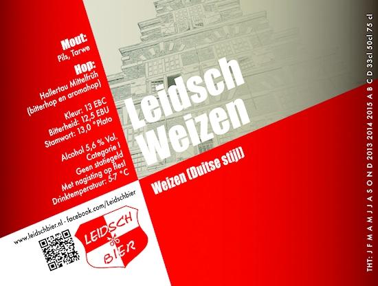 Leidsch Weizen, etiket 2013