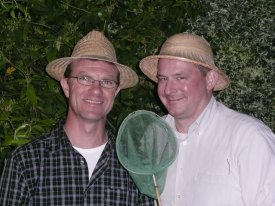 André (links) en JW (rechts) op gistsafari